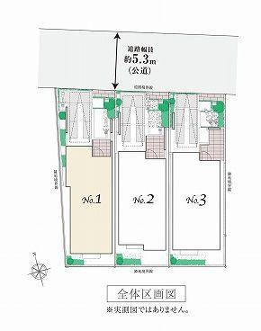 【区画図】杉並区上荻3丁目 新築戸建