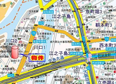 【地図】サムティ阿波座Lusso