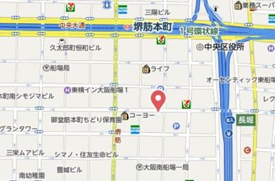 【地図】ラシュレエグゼ本町
