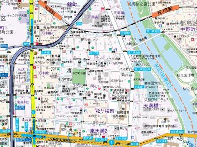 【地図】プレサンス同心アーバンステージ