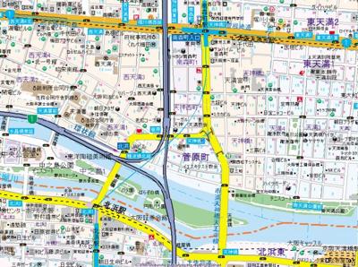 【地図】ゼンショウ天神