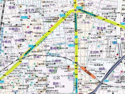 【地図】グレース黒崎