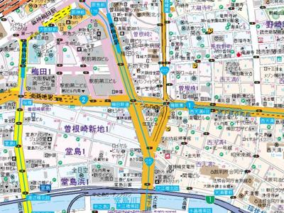 【地図】レジュールアッシュ梅田リュクス