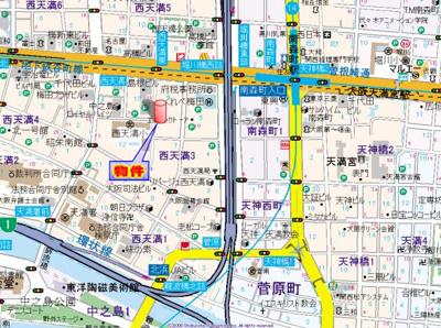 【地図】リーガル西天満