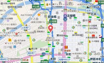 【地図】アーバネックス京町堀