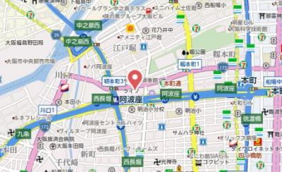 【地図】アーバネックス阿波座駅前