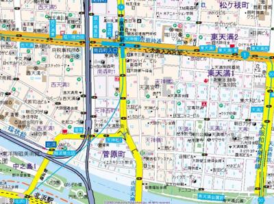 【地図】ビガーポリス397 M:COURT天神橋
