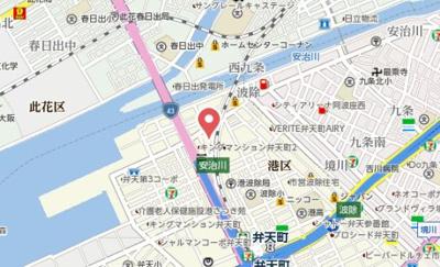 【地図】レグゼスタ弁天町