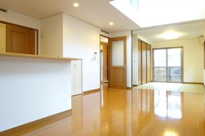 LDK17.5帖 和室と一体になりますのでさらに、広い空間になります。