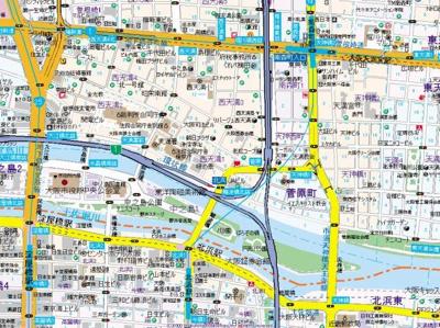 【地図】ラナップスクエア中之島公園
