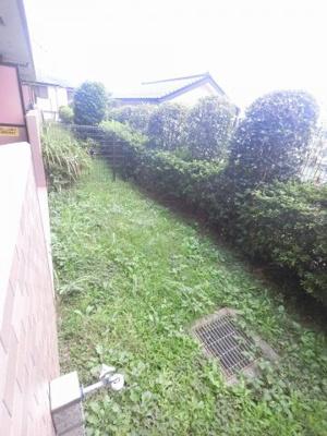 11.80平米の専用庭です。