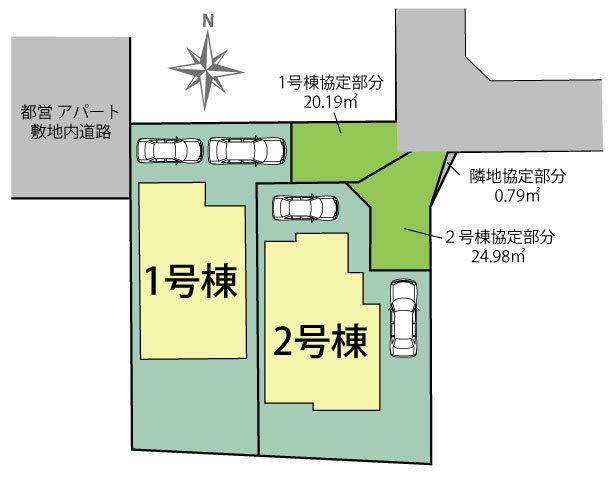 【区画図】東村山市美住町1丁目 新築戸建て 全2棟 1号棟~ロフト付き4LDK♪~