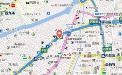 【地図】プロシード大阪WESTアドリア