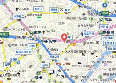 【地図】リーブル福島Ⅱ