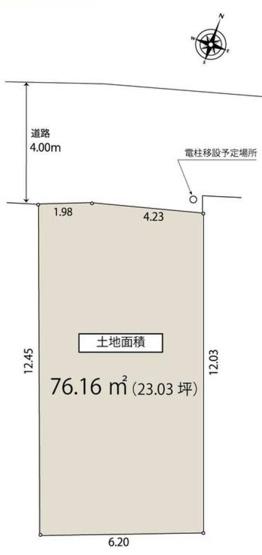 【区画図】仲介手数料無料 杉並区和田2丁目新築一戸建て