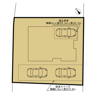 駐車は最低3台可能です