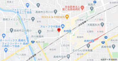 【地図】D'TOWER 芥川