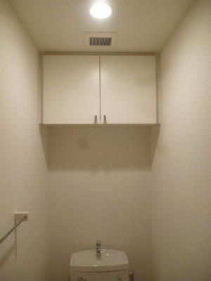 トイレ内にも収納あります