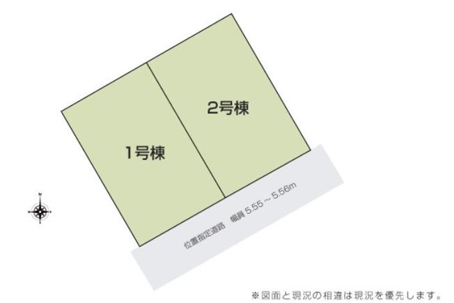 2号棟 カースペース3台可能です。お近くの完成物件ご案内いたします(^^)/住ムパルまでお電話下さい!