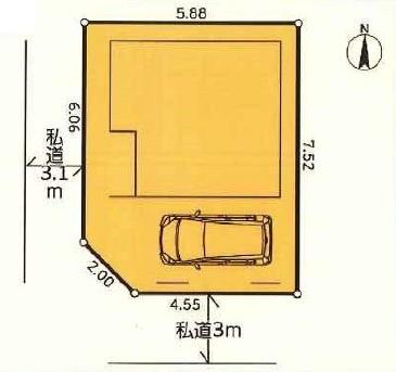 【区画図】板橋区東山町 新築戸建 4980万円