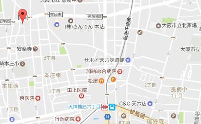【地図】エステムコート梅田・天神橋2グラシオ