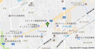 【地図】サンヒルズマンション (株)Roots
