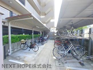 駐輪場です♪屋根付きで大切な自転車を雨から守ってくれます!