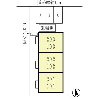 【区画図】プレジデント セキエイ
