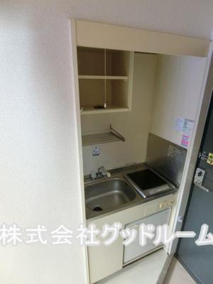 【キッチン】レオパレス小比企