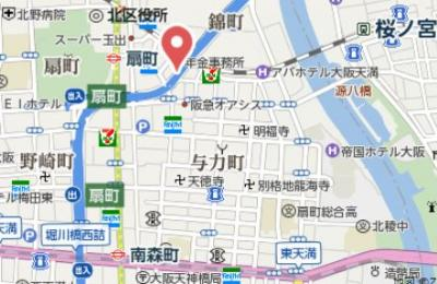 【地図】アーバネックス同心