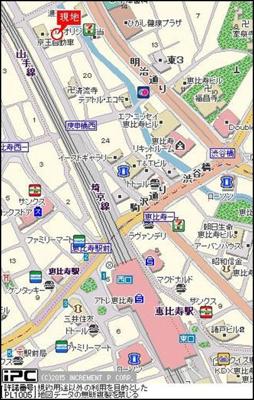 【地図】ヴェルステージ恵比寿