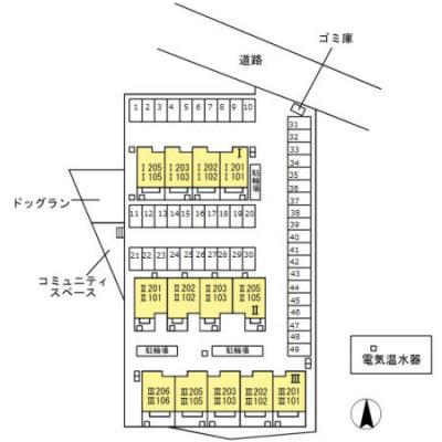 【区画図】コンフォートⅢ