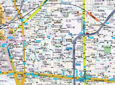 【地図】プレサンス梅田東ディアロ
