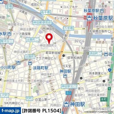 【地図】スカイコート神田壱番館