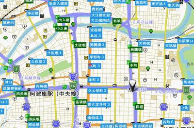 【地図】ダイドーメゾン大阪本町EAST