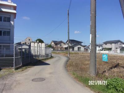 【前面道路含む現地写真】深谷市長在家 550万 土地