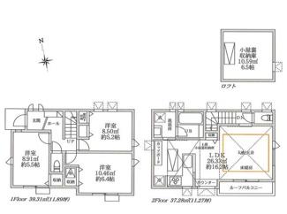 D号棟:開放的な2階LDKはリビング床暖房でいつでも快適です