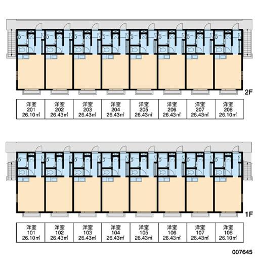 【区画図】レオパレス武蔵砂川1