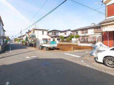 【前面道路含む現地写真】狭山市大字水野 全2棟 2号棟
