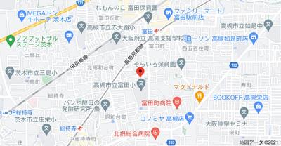 【地図】富田町2丁目貸家 (株)Roots