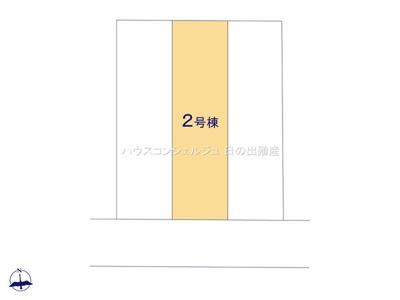 【区画図】名古屋市港区秋葉2丁目86【仲介手数料無料】新築一戸建て 2号棟