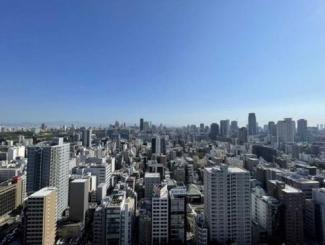 南向きバルコニーからの眺望・南東方向に大阪城公園が望めます!