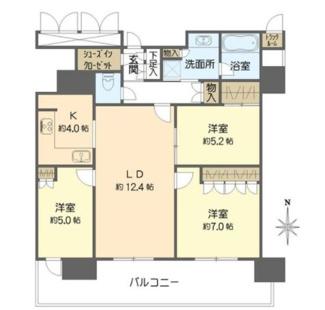 3LDK、価格8700万円、専有面積75.96㎡、バルコニー面積16.47㎡
