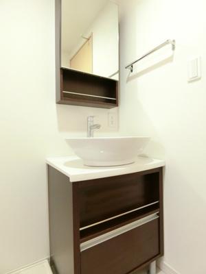 お洒落なベッセル式の洗面台