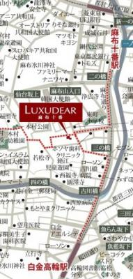 【地図】ラグディア麻布十番