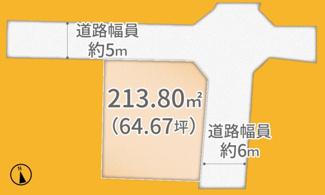 【土地図】久御山町栄1丁目1区画 売土地 建築条件無し
