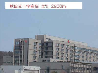 秋田赤十字病院まで2900m