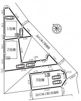 【区画図】秦野市堀山下 新築戸建 全3棟1号棟