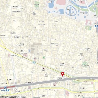 【地図】アペックス中村橋