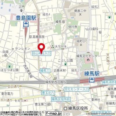 【地図】フェニックス練馬弐番館